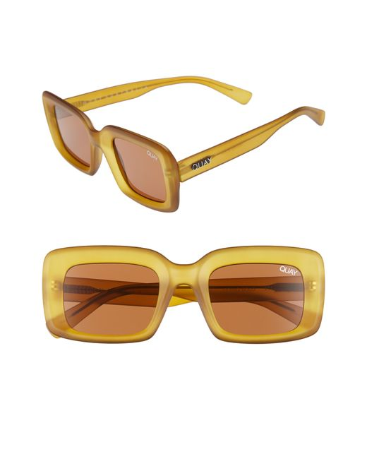 Quay - Brown Going Solo 48mm Square Sunglasses - - Lyst