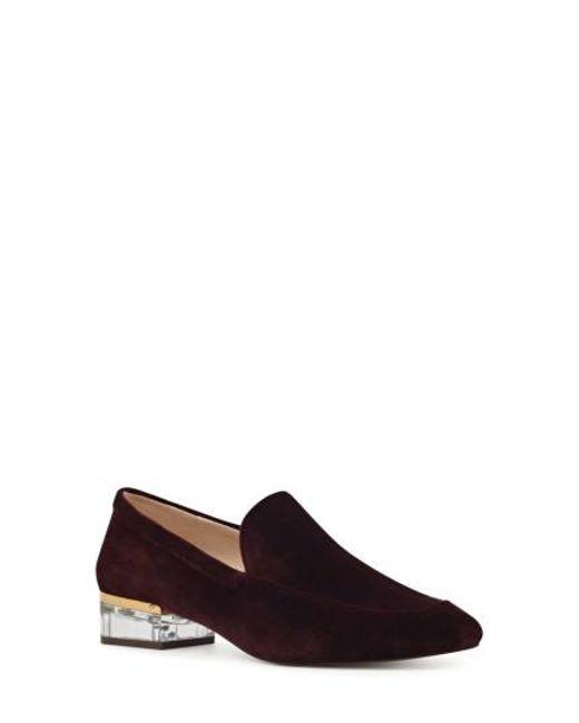 Nine West - Black Umissit Clear Heel Loafer - Lyst