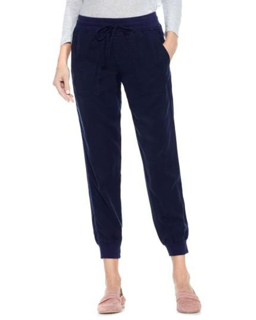 Vince Camuto | Blue Twill Jogger Pants | Lyst