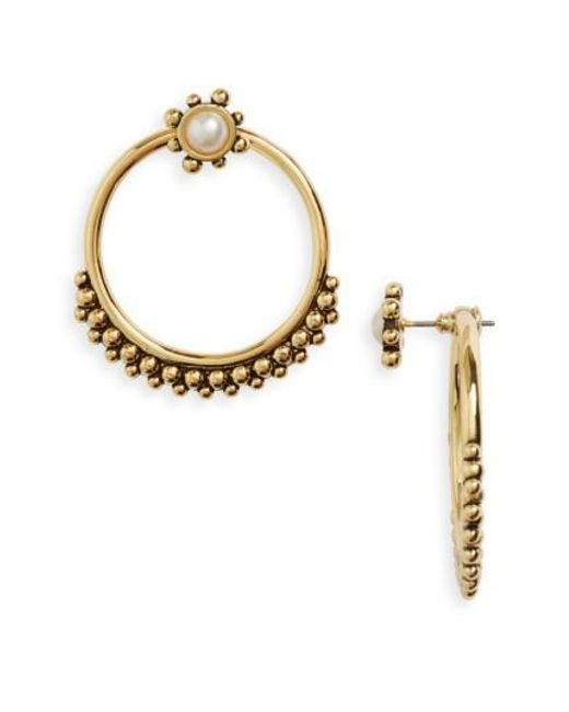 Luv Aj | Metallic Versailles Hoop Ear Jackets | Lyst