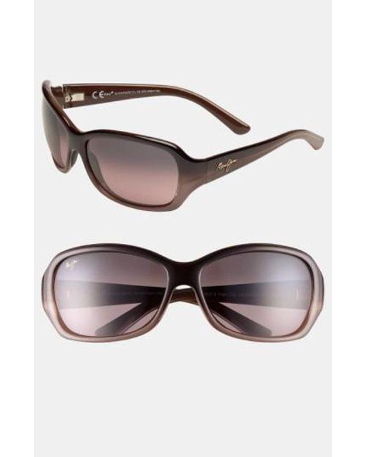 Maui Jim   Brown Pearl City 63mm Polarizedplus2 Sunglasses - Chocolate Fade   Lyst