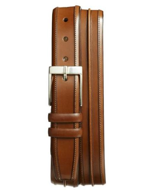Mezlan | Brown 'parma' Leather Belt for Men | Lyst