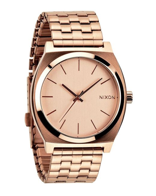Nixon - Metallic 'the Time Teller' Watch - Lyst
