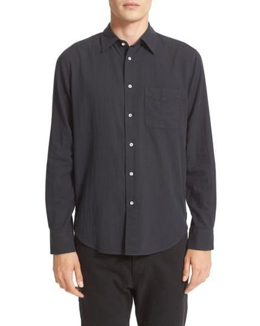 Rag & Bone | Black Standard Issue Solid Sport Shirt for Men | Lyst