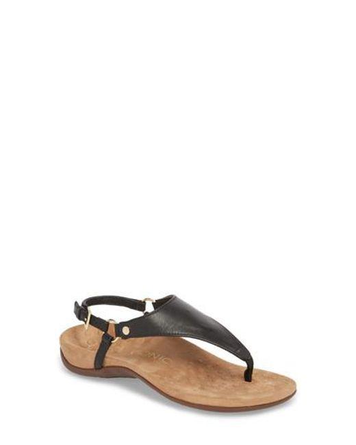 f368b6ffeea6 Lyst - Vionic Kirra Orthaheel Sandal in Black
