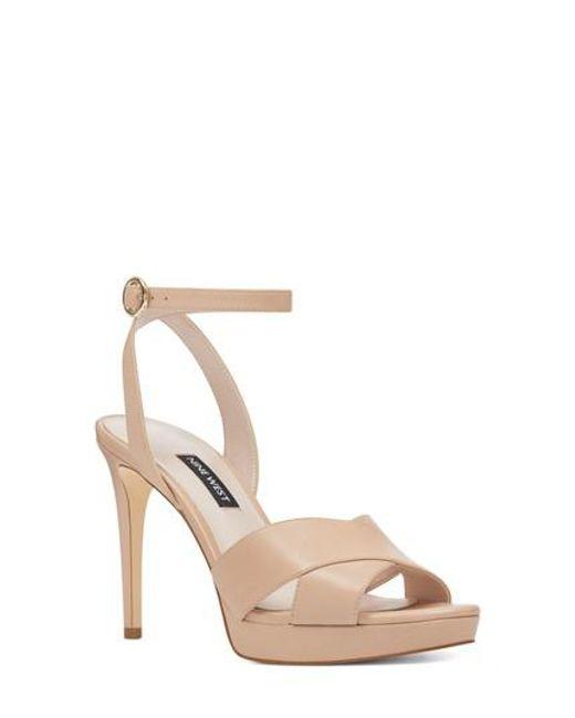 Nine West - Natural Quisha Ankle Strap Sandal - Lyst