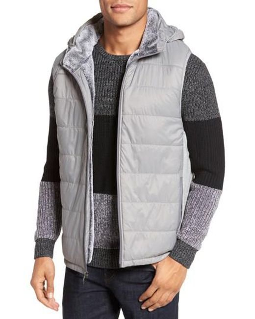Vince Camuto | Metallic Hooded Vest for Men | Lyst