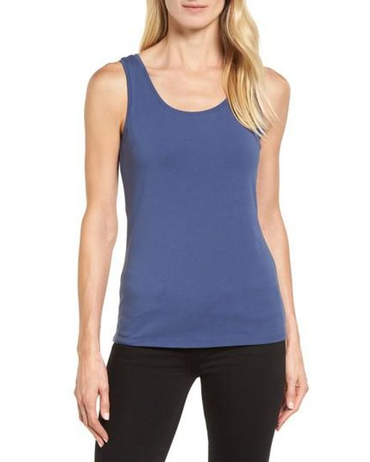 NIC+ZOE | Blue Stretch Tank | Lyst