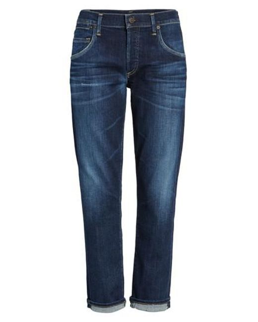 Citizens of Humanity - Blue Emerson Slim Boyfriend Jeans - Lyst