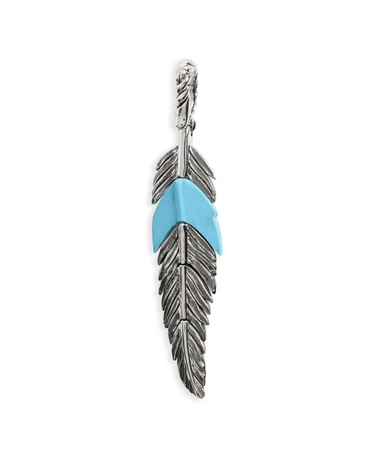 David Yurman - Blue Feather Amulet With Turquoise - Lyst