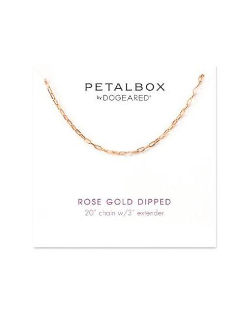 Dogeared | Metallic Petalbox Link Necklace (nordstrom Exclusive) | Lyst