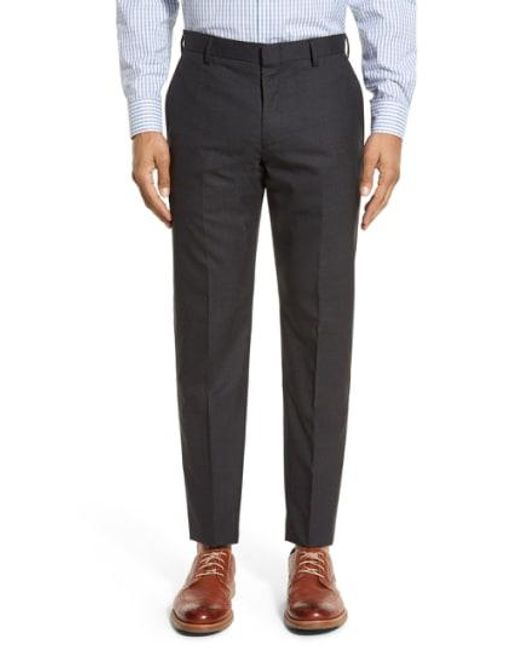 J.Crew - Black Ludlow Flat Front Solid Wool Trousers for Men - Lyst