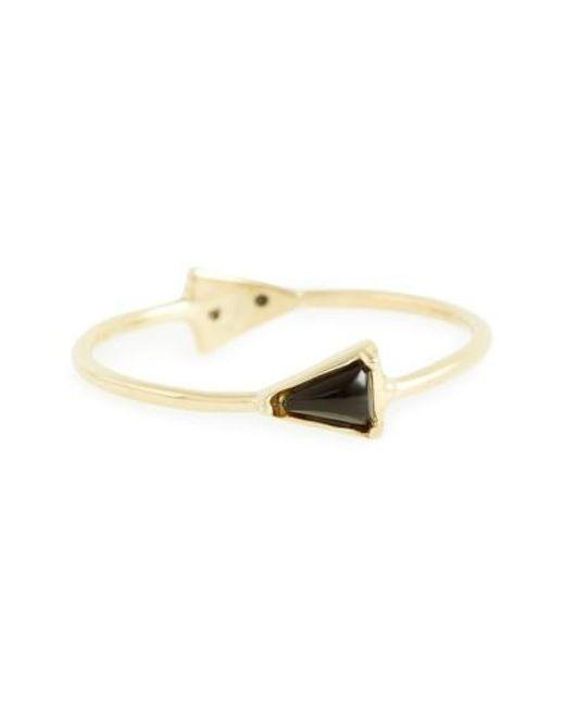 Mociun | Metallic Double Triangle Ring | Lyst