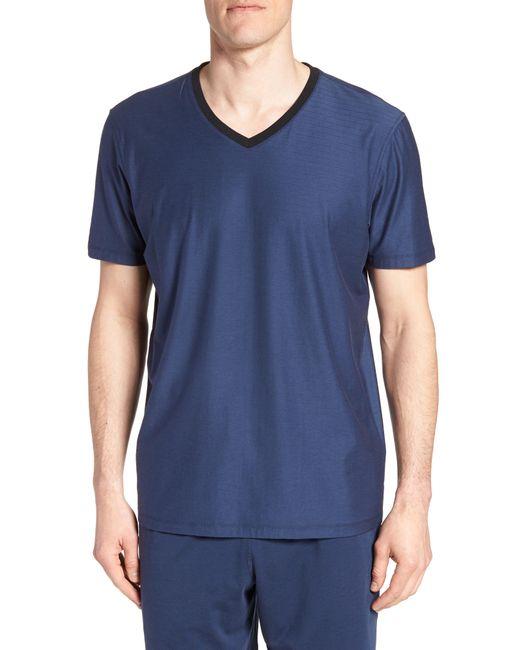 Daniel Buchler - Blue Pima Cotton & Modal V-neck T-shirt for Men - Lyst