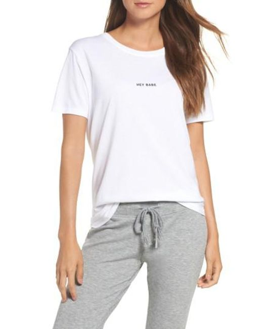 BRUNETTE the Label | White Hey Babe Tee | Lyst