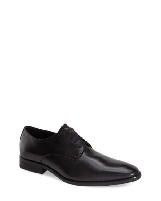 CALVIN KLEIN 205W39NYC - Black 'ramses' Plain Toe Derby for Men - Lyst