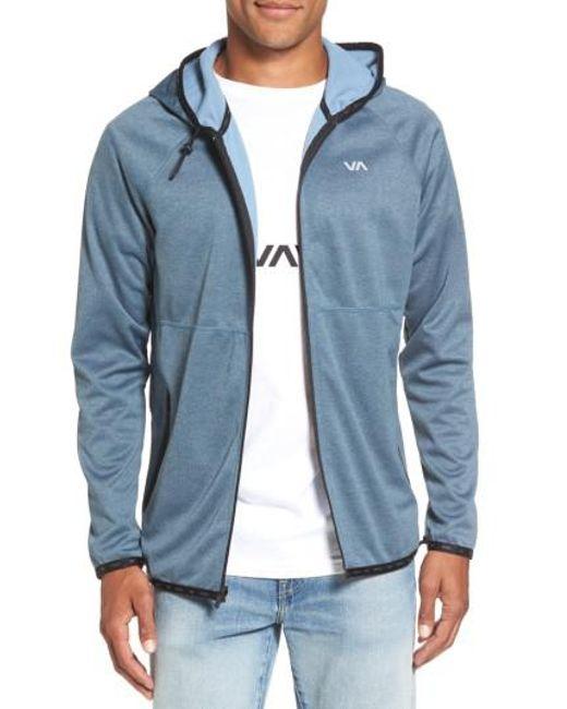 RVCA | Blue Shermin Zip Hoodie for Men | Lyst