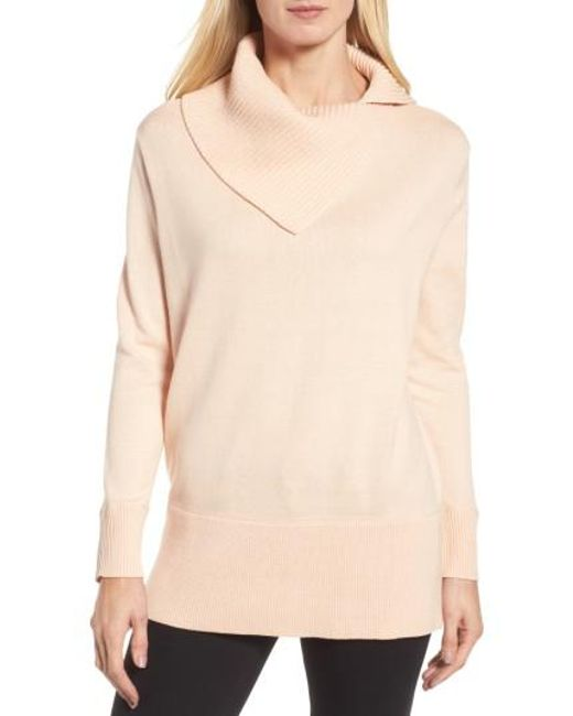 Chaus | Natural Cowl Neck Sweater | Lyst