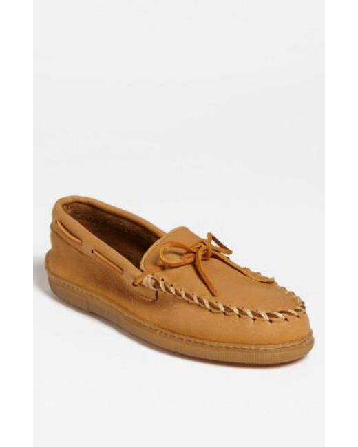 Minnetonka | Natural Moosehide Moccasin for Men | Lyst