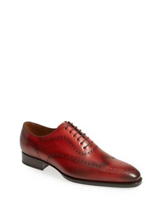 Sendra - Red 'westport' Wingtip Oxford for Men - Lyst