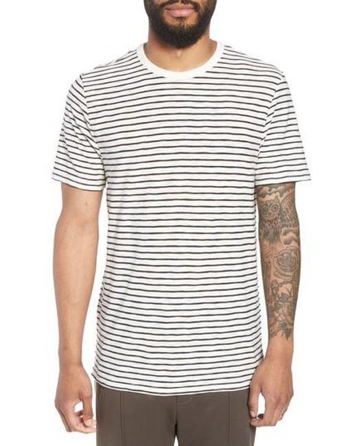 Vince - White Stripe Crewneck T-shirt for Men - Lyst