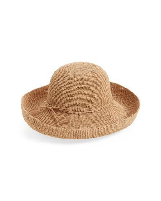 Helen Kaminski - Brown 'provence 12' Packable Raffia Hat - Lyst