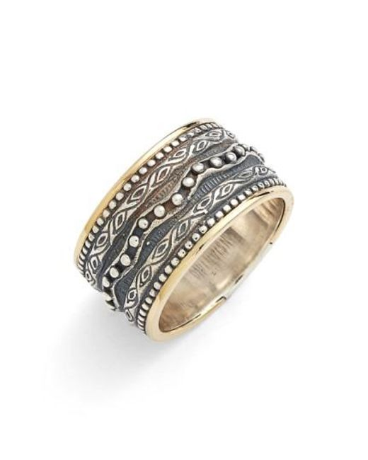 Konstantino   Metallic 'hebe' Etched Band Ring   Lyst