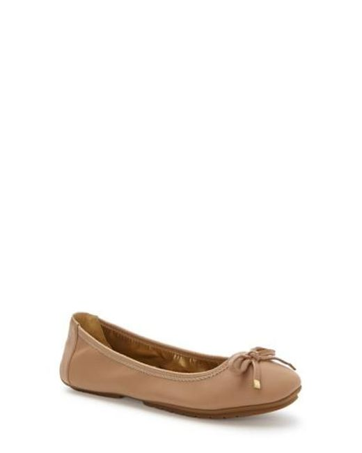 Me Too - Brown Halle Leather Ballet Flats - Lyst