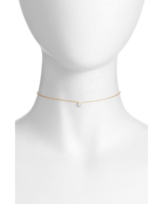 EF Collection - Metallic Diamond Pendant Necklace - Lyst