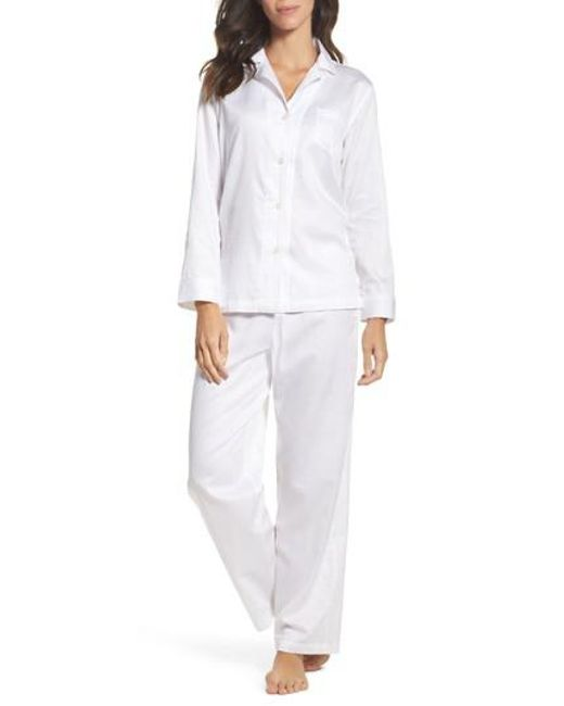 Lauren by Ralph Lauren | White Cotton Pajamas | Lyst