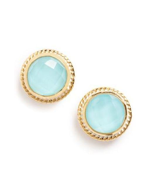 Anna Beck - Blue Stone Stud Earrings - Lyst