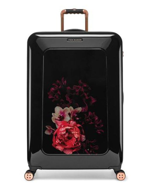 6b17487f4cf1 Ted Baker - Black Large Splendour Print 31-inch Hard Shell Spinner Suitcase  - -