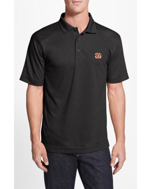 Cutter & Buck - Black 'cincinnati Bengals - Genre' Drytec Moisture Wicking Polo for Men - Lyst