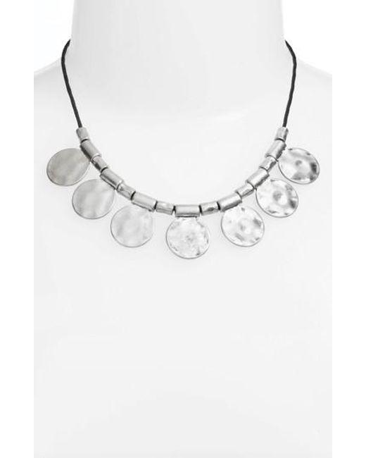 Treasure & Bond - Metallic Organic Summer Metals Sliding Disc Necklace - Lyst