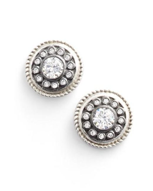Freida Rothman | Metallic 'nautical Button' Stud Earrings | Lyst