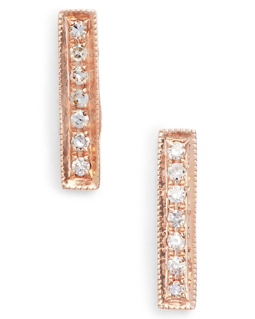 Dana Rebecca - Multicolor Sylvie Rose Diamond Bar Stud Earrings - Lyst