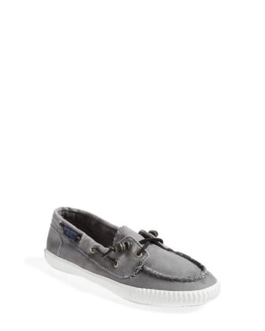 Sperry Top-Sider | Gray Sayel Away Canvas Boat Shoes | Lyst