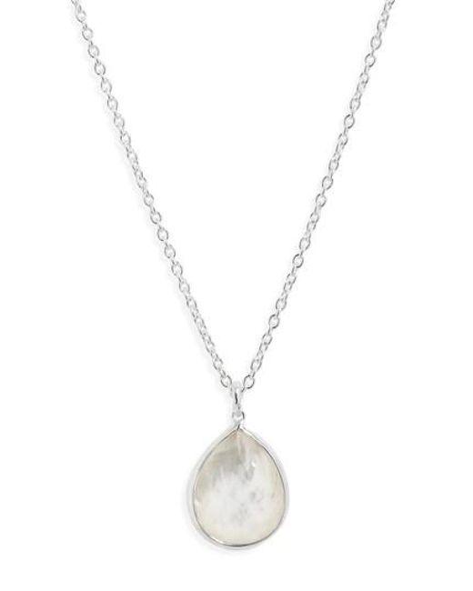 Ippolita | Metallic 'wonderland' Mini Teardrop Pendant Necklace - Mother Of Pearl (online Only) | Lyst