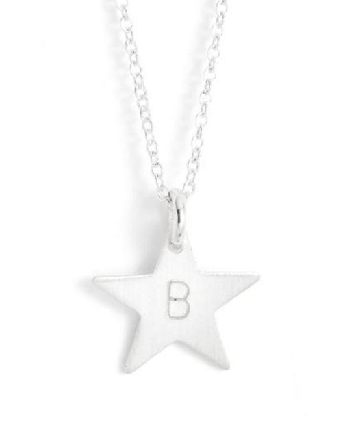 Nashelle sterling silver initial mini star pendant necklace in nashelle metallic sterling silver initial mini star pendant necklace lyst aloadofball Images