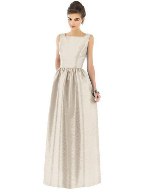 Alfred Sung | Metallic Square-Neck Dupioni Full-Length Dress | Lyst