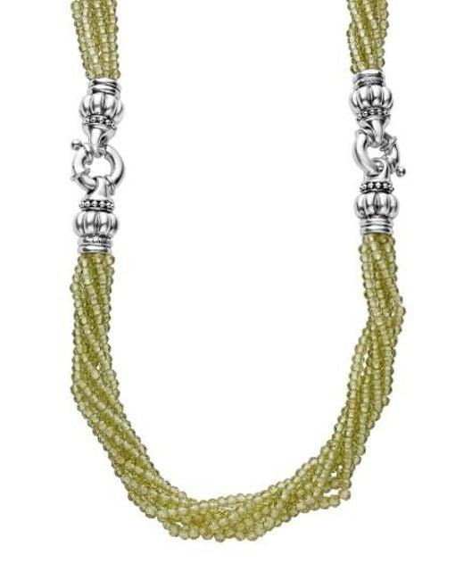 Lagos   Metallic Caviar Icon Bead Convertible Bracelet & Necklace   Lyst