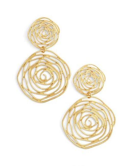 Karine Sultan | Metallic Drop Earings | Lyst