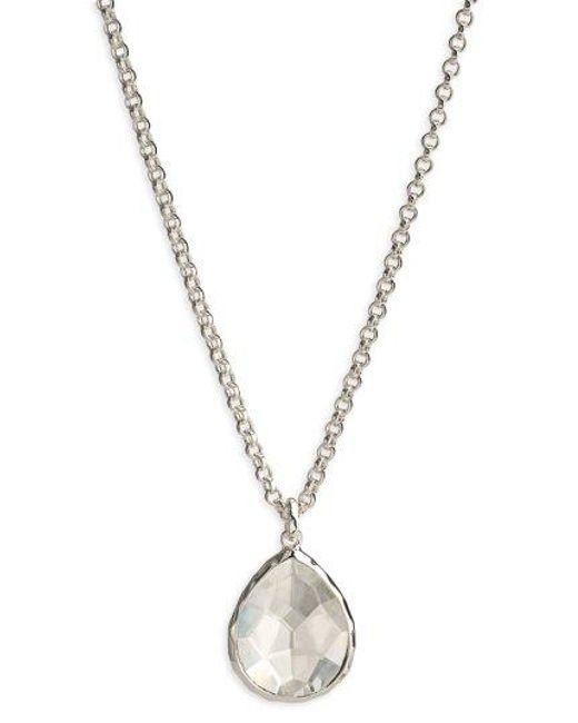 Ippolita - Metallic 'wonderland' Mini Teardrop Pendant Necklace (online Only) - Lyst