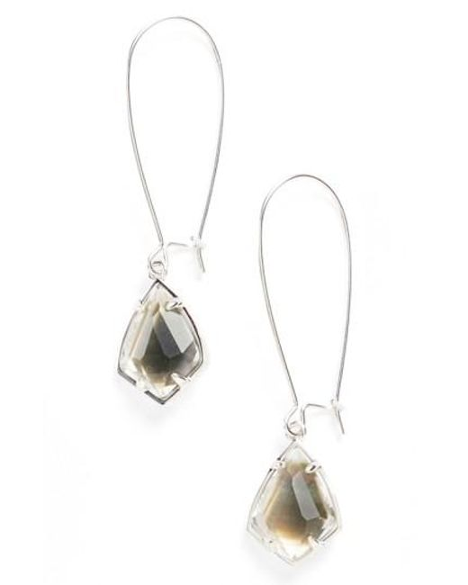 Kendra Scott   Black 'carrine' Semiprecious Stone Drop Earrings   Lyst