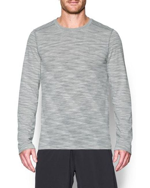Under Armour - Gray Threadborne Fitted Training T-shirt for Men - Lyst