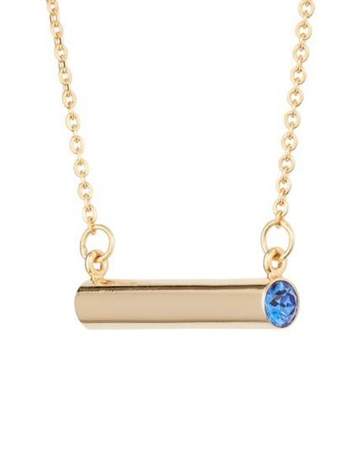 Stella Valle - Metallic September Crystal Bar Pendant Necklace - Lyst