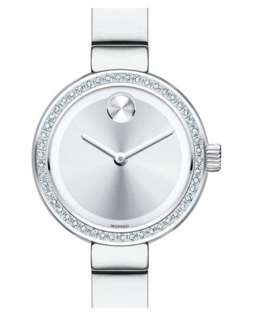 Movado | Metallic 'bold' Diamond Bezel Bangle Watch | Lyst