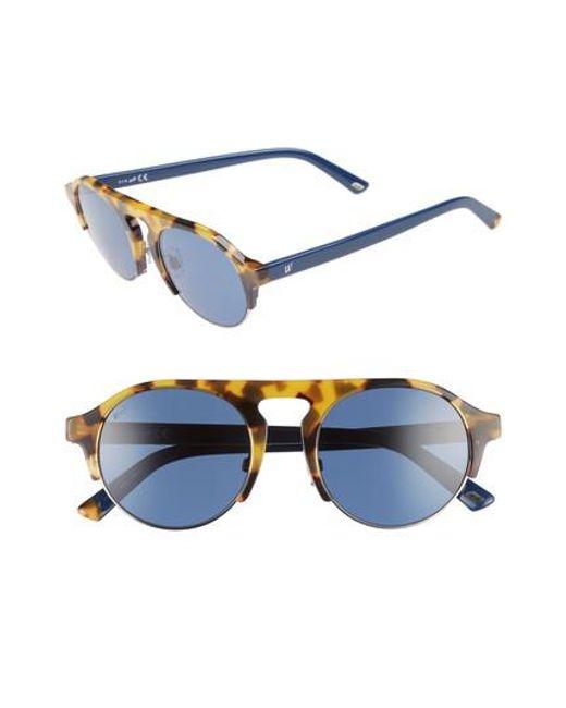 Web - 52mm Sunglasses - Havana/ Blue - Lyst
