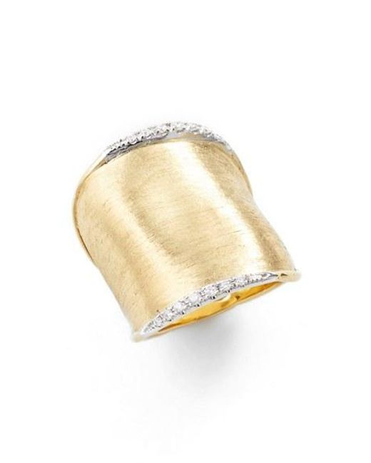 Marco Bicego | Yellow 'lunaria' Diamond Ring | Lyst