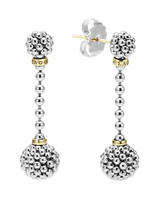 Lagos | Metallic Caviar Lattice Ball Drop Earrings | Lyst
